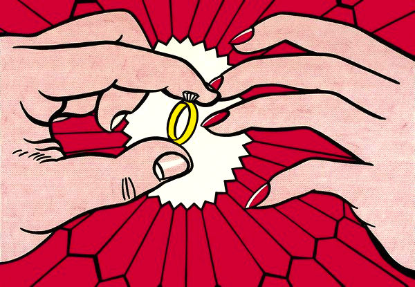 """The Ring (Engagement),"" by Roy Lichtenstein, 1962."