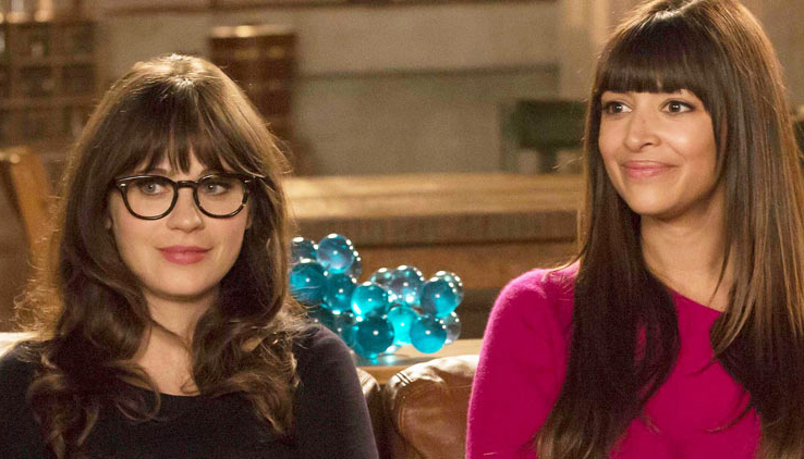 "NEW GIRL: Zooey Deschanel and Hannah Simone star in the ""Virgins"" season finale episode of NEW GIRL airing Tuesday, April 30, 2013 (9:00-9:30 PM ET/PT) on FOX. (Photo by FOX via Getty Images)"